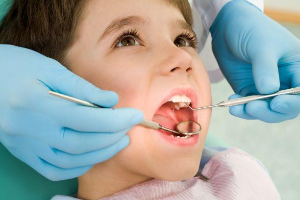 child in dentist's chair
